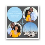 Circles and Anchor -- Nautical Save the Date Cards