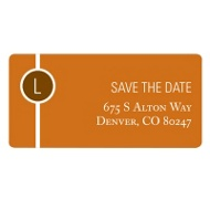 Monogram String Save the Date Address Label