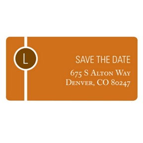 Monogram String -- Save the Date Address Label