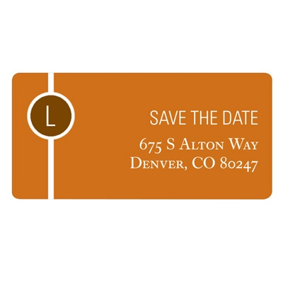 Monogram String Save the Date Address Label