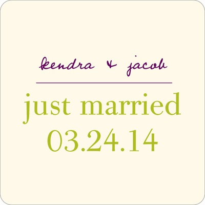 Trendy Vines Wedding Favor Stickers
