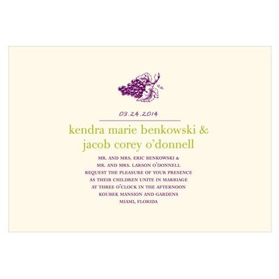 Simply Vineyard Grape Wedding Invitations