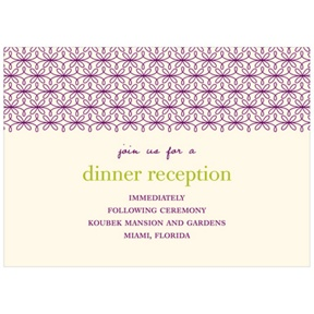 Trendy Vines -- Wedding Reception Cards