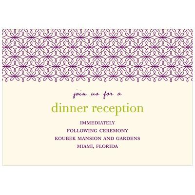 Trendy Vines Wedding Reception Cards