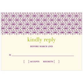 Trendy Vines -- Wedding Response Cards