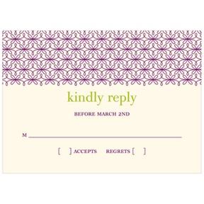 Trendy Vines -- Wedding Response Cards