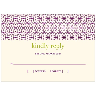 Trendy Vines Wedding Response Cards