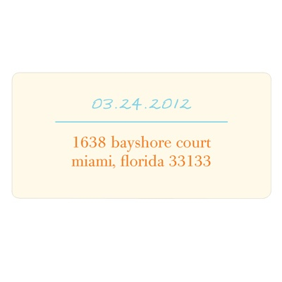 Simply Written Save the Date Address Label