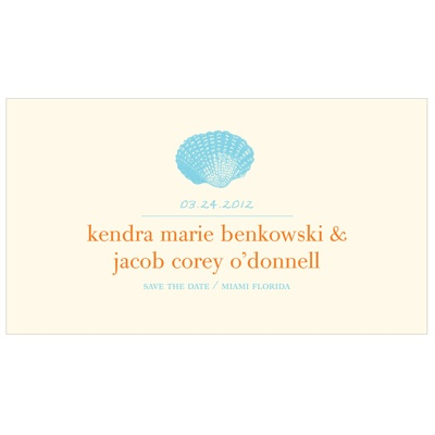 Love Shell -- Beach Save the Date Card