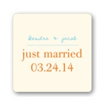 Simply Vineyard -- Wedding Favor Stickers
