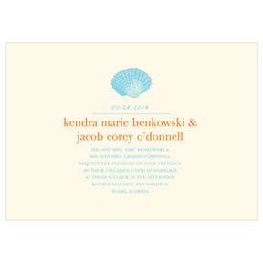 Chic Shell -- Destination Wedding Invitations