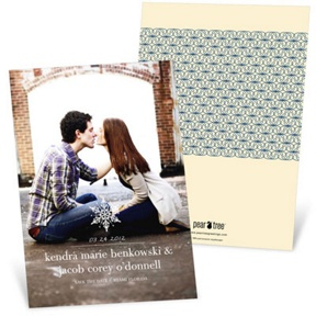 Stylish Snowflake -- Save The Date Cards