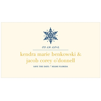 Stylish Snowflake -- Winter Save the Date Card