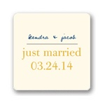 Simply Stated -- Personalized Wedding Favor Stickers