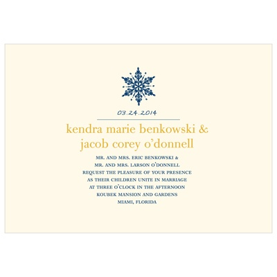 Celebration Snowflake -- Winter Wedding Invitations