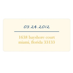 Simply Stated -- Wedding Address Labels