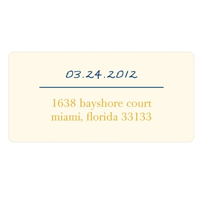 Simply Stated Wedding Address Labels