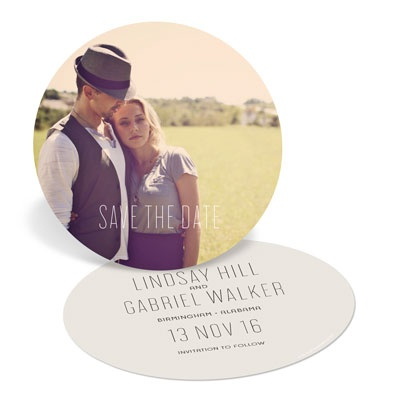 Round And Round Save The Date Cards