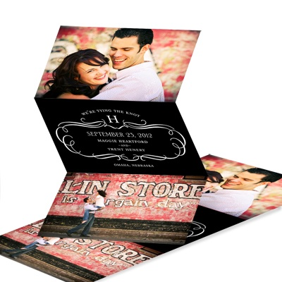 Classy Flourish Photo Save the Date Cards