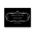 Flourished Monogram -- Fancy Reception Cards