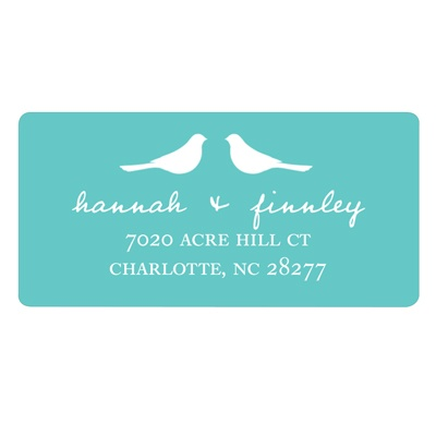 Birds -- Save the Date Address Label