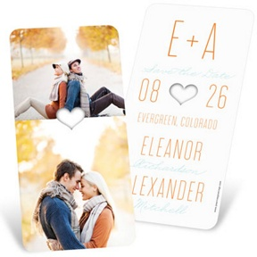 Lucky in Love -- Save the Date Card