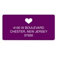 Lucky in Love Save the Date Address Label