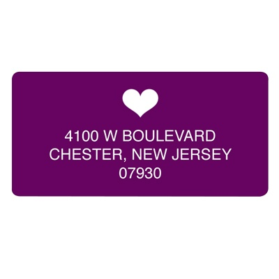 Lucky in Love -- Save the Date Address Label