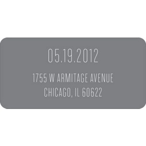Typed In -- Wedding Address Labels