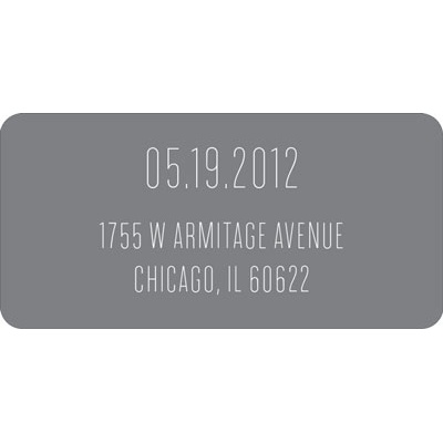 Typed In Wedding Address Labels