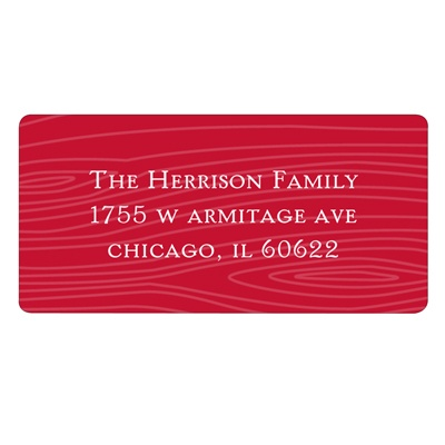 Designs in Wood - Red Christmas Address Label