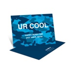 Cool Camouflage in Blue -- Kids Valentine's Day Card