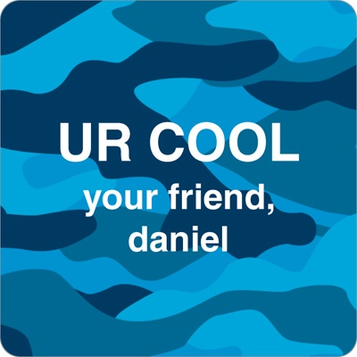 Cool Camouflage in Blue -- Valentine's Day Personalized Stickers