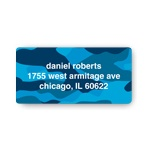 Cool Camouflage in Blue -- Valentine's Day Address Labels