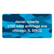 Cool Camouflage in Blue Valentine's Day Address Labels