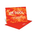 Cool Camouflage in Orange -- Kids Valentine's Day Card