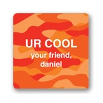 Cool Camouflage in Orange -- Valentine Gift Tags