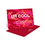 Cool Camouflage in Red -- Kids Valentine's Day Card