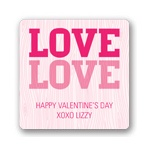 Carved Love -- Valentine's Day Personalized Stickers