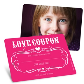 Love Coupon -- Valentine's Day Greeting Cards for Kids