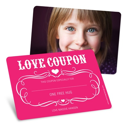 Love Coupon Valentine's Day Greeting Cards for Kids