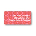 Pink Patterned Print -- Valentine's Address Labels