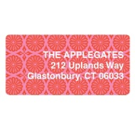 Pink Patterned Print Valentine's Address Labels