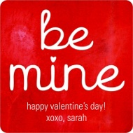 Be Mine  Valentine's Day Personalized Stickers