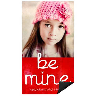 Be Mine Magnet Valentine's Day Photo Cards