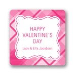 Pink and Plaid -- Valentine's Day Personalized Stickers