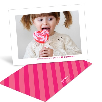 Hearts and Stripes Cute Valentine's Day Cards