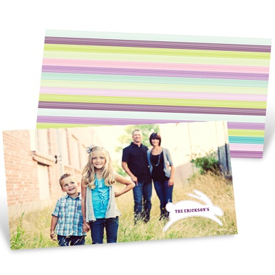 Hopping Stripes Easter Greeting Cards