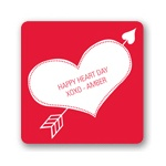 Cupid's Arrow -- Valentine's Day Personalized Stickers