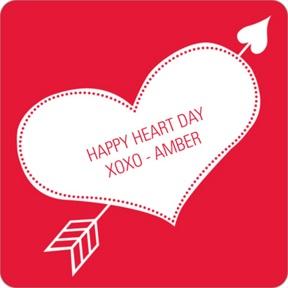 Cupid's Arrow -- Valentine's Day Personalized Stickers